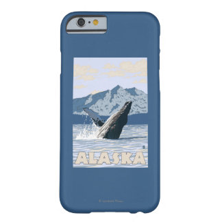 AlaskaHumpback Whale Vintage Travel Poster Barely There iPhone 6 Case