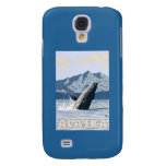 AlaskaHumpback Whale Vintage Travel Poster Samsung Galaxy S4 Cases