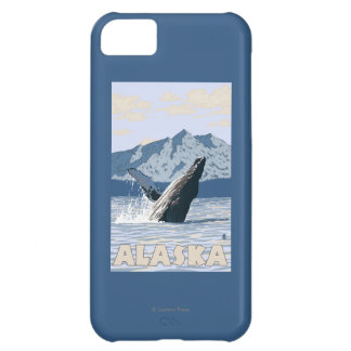 AlaskaHumpback Whale Vintage Travel Poster Case For iPhone 5C