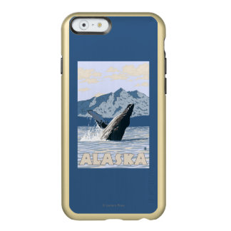 AlaskaHumpback Whale Vintage Travel Poster Incipio Feather Shine iPhone 6 Case