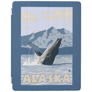 AlaskaHumpback Whale Vintage Travel Poster iPad Smart Cover