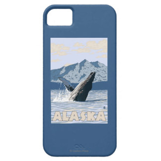 AlaskaHumpback Whale Vintage Travel Poster iPhone SE/5/5s Case