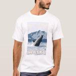 AlaskaHumpback Whale Vintage Travel Poster T-Shirt