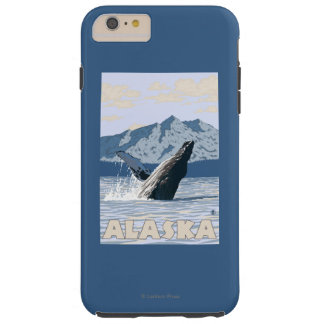 AlaskaHumpback Whale Vintage Travel Poster Tough iPhone 6 Plus Case