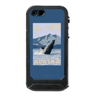 AlaskaHumpback Whale Vintage Travel Poster Waterproof Case For iPhone SE/5/5s