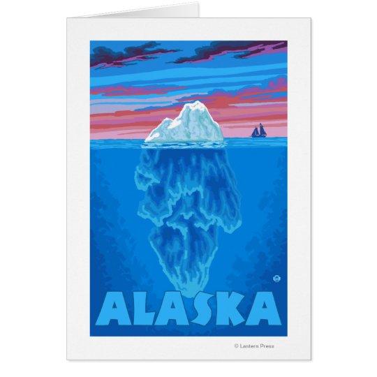 AlaskaIceberg Vintage Travel Poster Card