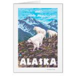 AlaskaMountain Goats Vintage Travel Poster Card