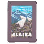 AlaskaMountain Goats Vintage Travel Poster Case For iPad Air