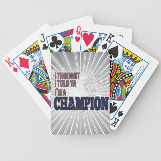 Alaskan and a Champion Bicycle Playing Cards