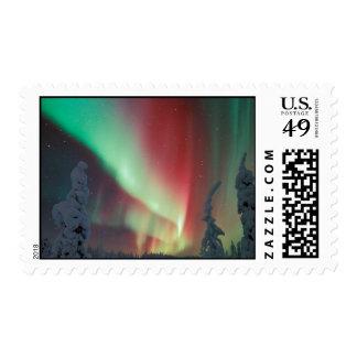 Alaskan Aurora Borealis Postage Stamp