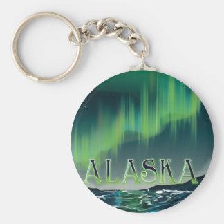 Alaskan Aurora Vintage Travel poster Keychain