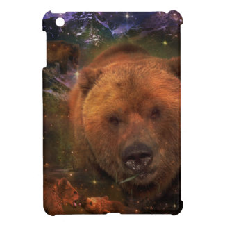 Alaskan Bear with Cubs Cover For The iPad Mini