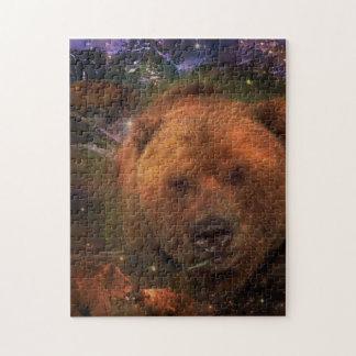Alaskan Bear with Cubs Jigsaw Puzzle