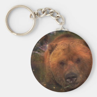 Alaskan Bear with Cubs Keychain