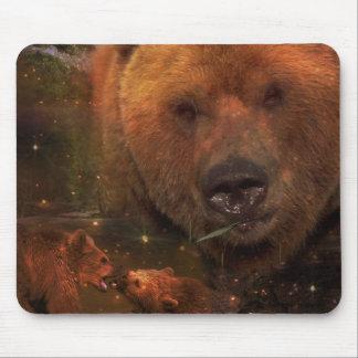 Alaskan Bear with Cubs Mouse Pad