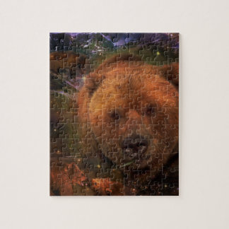 Alaskan Bear with Cubs Puzzle