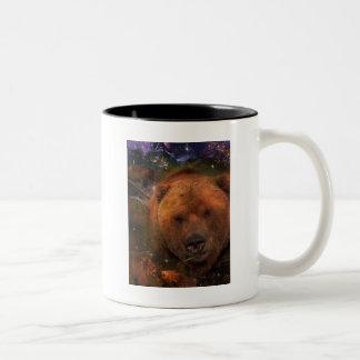 Alaskan Bear with Cubs Two-Tone Coffee Mug