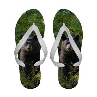 Alaskan Black Bear Flip-Flops