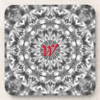 Alaskan Black/White Custom Native Tribal Pattern Drink Coaster