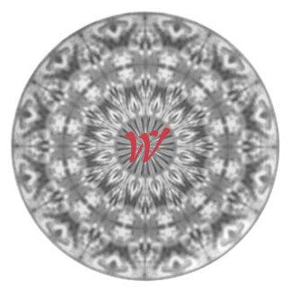 Alaskan Black/White Custom Native Tribal Pattern Melamine Plate