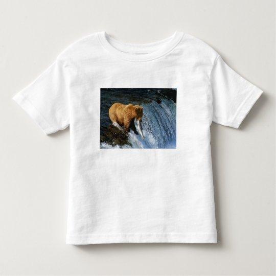 Alaskan Brown Bear Catching Salmon at Brooks Toddler T-shirt