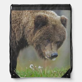 Alaskan Brown Bear String Backpack