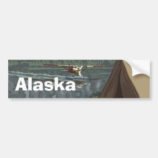 Alaskan Bush Plane Lake Camping Tent Bumper Sticker