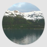 Alaskan Coast at Dusk Travel Photography Classic Round Sticker