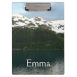Alaskan Coast at Dusk Travel Photography Clipboard
