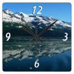 Alaskan Coast Square Wall Clocks