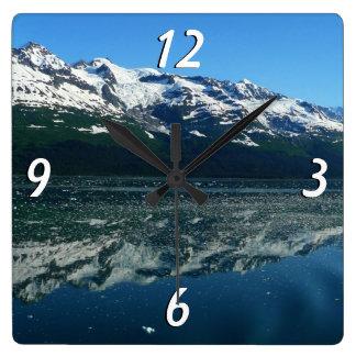 Alaskan Coastline Beautiful Nature Photography Square Wall Clock