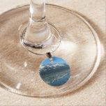 Alaskan Coastline Beautiful Nature Photography Wine Glass Charm