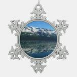Alaskan Coastline Snowflake Pewter Christmas Ornament
