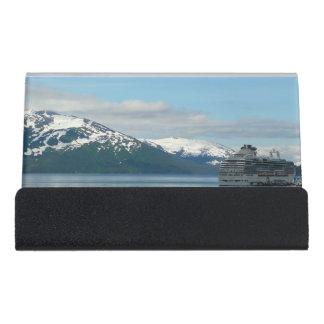 Alaskan Cruise Vacation Travel Photography Desk Business Card Holder