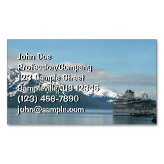 Alaskan Cruise Vacation Travel Photography Magnetic Business Card
