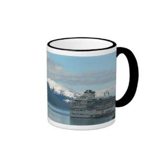 Alaskan Cruise Vacation Travel Photography Ringer Coffee Mug
