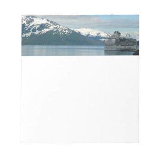 Alaskan Cruise Vacation Travel Photography Notepad