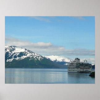 Alaskan Cruise Vacation Travel Photography Poster