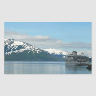 Alaskan Cruise Vacation Travel Photography Rectangular Sticker