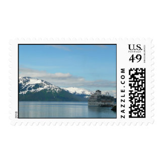 Alaskan Cruise Vacation Travel Photography Stamp