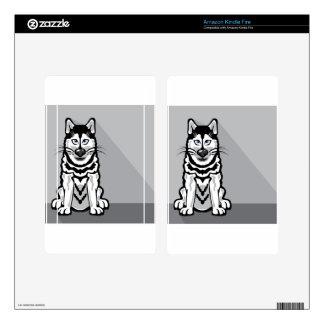 Alaskan Dog cartoon Kindle Fire Decal