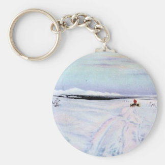Alaskan Dog Sleddiing in the Yukon-Koyukuk Keychain