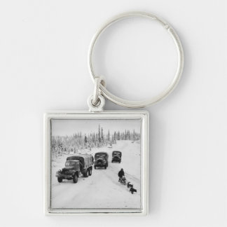 Alaskan Dogsled Army Trucks Key Chain