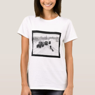 Alaskan Dogsled & Army Trucks T-Shirt