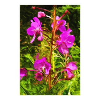 Alaskan Fireweed Pink Wildflower Abstract Photographic Print