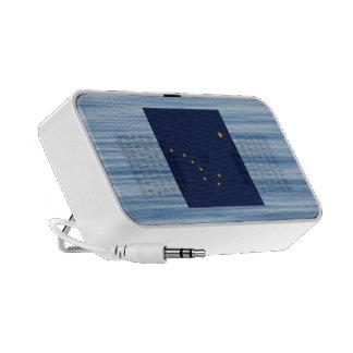 Alaskan Flag Floating on water Portable Speaker