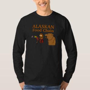 Alaskan Food Chain Funny Alaska Souvenir Tee Black