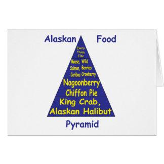 Alaskan Food Pyramid Card