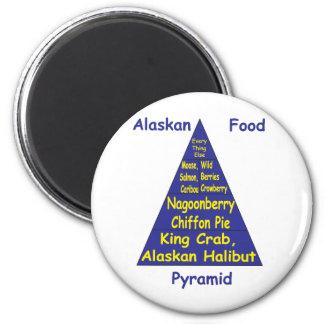Alaskan Food Pyramid 2 Inch Round Magnet