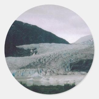 Alaskan Glacier Classic Round Sticker